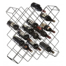 Focus Foodservice FWBR45BK Wine rack modules, 45 bottle capacity, black epoxy
