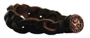 Guinness Official Merchandise AL90262 Leather Bracelet with Shamrock Button
