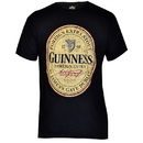 Guinness Official Merchandise G6054 GUINNESS Black Distressed English Label Tee