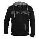 Guinness Official Merchandise G7009 Guinness Vintage Black & Grey Label Lined Hoodie