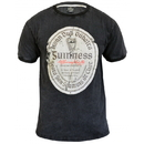 Guinness Official Merchandise GC003 GUINNESS Distressed Gaelic Label Tee
