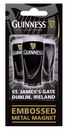 Guinness Official Merchandise GNS2857 Metal Embossed Magnet - ST.JIAMES' GATE DUBLIN, IRELAND