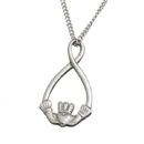 Guinness Official Merchandise PE4012 Claddagh Loop Pendant With Chain