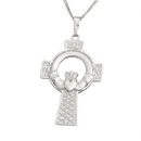 Guinness Official Merchandise PE4032 Claddagh Celtic Cross Pendant on a chain