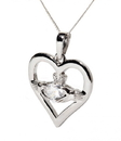 Guinness Official Merchandise PE4089 April (CZ) Birthstone Claddagh