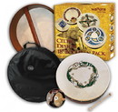"Walton's Irish Music WMP1902 18"" Chase Design Bodhran pack"