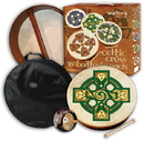 "Walton's Irish Music WMP2500 18"" Gallen Cross Bodhran Pack"