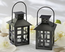 Kate Aspen Luminous Black Mini-Lantern Tea Light Holder