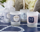 Kate Aspen 15020NA-NW Personalized Frosted Glass Votive - Kate's Nautical Wedding Collection