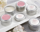 Kate Aspen 20155NA-RB Personalized Travel Candle - Kate's Rustic Baby Shower Collection