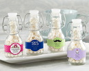 Kate Aspen 27080NA-BD Mini Glass Favor Bottle with Swing Top - Birthday (Set of 12) (Available Personalized)