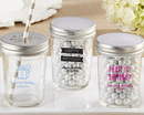 Kate Aspen 27094NA-PD Personalized Printed Glass Mason Jar - Birthday (Set of 12)