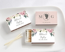 Kate Aspen 28257WT-EG Personalized White Matchboxes - English Garden (Set of 50)