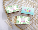 Kate Aspen 28257WT-PP Personalized White Matchboxes - Pineapples and Palms (Set of 50)