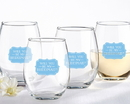 Kate Aspen 30023NA-WY3 Will You Be My Bridesmaid Something Blue 15 oz. Stemless Wine Glass (Set of 4)