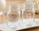 Kate Aspen 30036NA-WD Personalized 16 oz Mason Jar Mug - Wedding