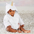 Baby Aspen BA14062NA Simply Enchanted Unicorn Hooded Spa Robe (Personalization Available)