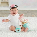 Baby Aspen BA15222NA Mia the Mermaid Plush Plus Headband and Rattle for Baby