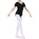 TopTie Girls Team Basic Short Sleeve Leotard Ballet Gymnastics Leotard