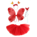 TopTie Fairy Princess Tutu Wing Wand Set For Girls Dress up