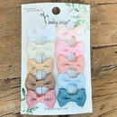 Baby Wisp - Charlotte Bow Snap Clips - 10pk