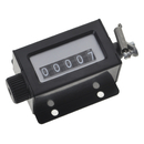 GOGO 5 Digit Manual Tally Counter, Resettable Mechanical Pulling Stroke Counter for Instrument Machine