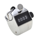 GOGO Metal Handheld Tally Counter 4 Digit Mechanical Palm Digital Number Clicker Counter for Row People Golf Lap Knitting