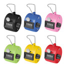 GOGO 6 PCS Plastic Hand Tally Counter, 4 Digit Number Handheld Clicker, Manual Mechanical Lap Counter, for Sport Event Training