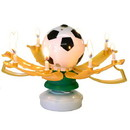 Keystone Candle BDdayMF-Socr Musical Birthday Candles Soccer Ball