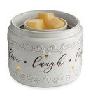 Keystone Candle CW-FFLLL Illuminaire Fan Candle Warmer Live, Laugh, Love