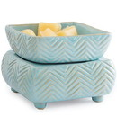 Keystone Candle CW-WD-Chev Candle Warmer and Dish Chevron