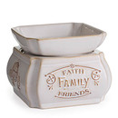 Keystone Candle CW-WD-FFF Candle Warmer and Dish Faith Family Friends