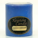 Keystone Candle FT3x3-BChristmas Blue Christmas 3x3 Pillar Candles