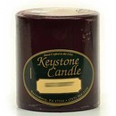 Keystone Candle FT3x3-BlCherry Black Cherry 3x3 Pillar Candles