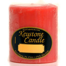 Keystone Candle FT3x3-JucPeach Juicy Peach 3x3 Pillar Candles