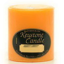 Keystone Candle FT3x3-OTwist Orange Twist 3x3 Pillar Candles