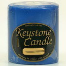 Keystone Candle FT4x4-BChristmas Blue Christmas 4x4 Pillar Candles
