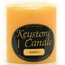 Keystone Candle FT4x4-Creams Creamsicle 4x4 Pillar Candles