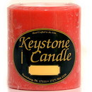 Keystone Candle FT4x4-JucPeach Juicy Peach 4x4 Pillar Candles