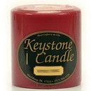 Keystone Candle FT4x4-Rasp Raspberry Cream 4x4 Pillar Candles