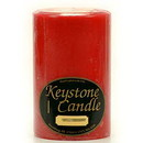 Keystone Candle FT4x6-AppCinn Apple Cinnamon 4x6 Pillar Candles