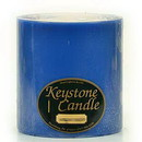Keystone Candle FT6x6-BChristmas Blue Christmas 6x6 Pillar Candles