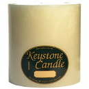 Keystone Candle FT6x6-IvUns Unscented Ivory 6x6 Pillar Candles