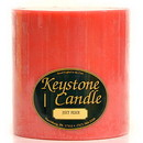 Keystone Candle FT6x6-JucPeach Juicy Peach 6x6 Pillar Candles