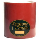 Keystone Candle FT6x6-MisHolly Mistletoe and Holly 6x6 Pillar Candles