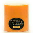 Keystone Candle FT6x6-OTwist Orange Twist 6x6 Pillar Candles