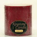 Keystone Candle FT6x6-Rasp Raspberry Cream 6x6 Pillar Candles