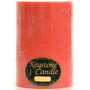 Keystone Candle FT6x9-JucPeach Juicy Peach 6x9 Pillar Candles
