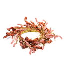 Keystone Candle HaM-E17904 Floral Rustic Pink Candle Ring 6.5 Inch