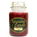 Keystone Candle J26-ABS 26 oz Apples and Brown Sugar Jar Candles